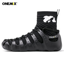 ONEMIX Men Sport Sneakers Outdoor 1 shoes 3 Wearing Jogging Walking Sneakers Sock-like Sneakers Environmentally Friendly Shoes