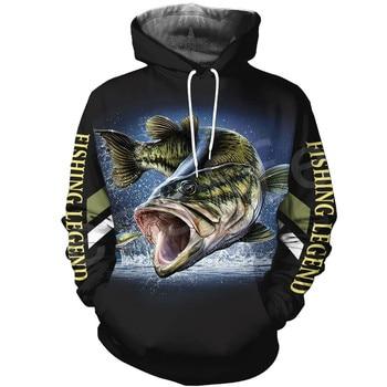 Tessffel New Fashion Animal Fishing Art Harajuku casual Tracksuit Funny 3D Print Zipper/Hoodie/Sweatshirt/Jacket/Mens Womens s-3 1