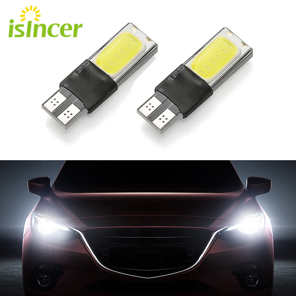 2 PCS  Car Light T10 W5W 12v White 194 168  Parking Lamp Automatic Ramp Gap Lamp For Interior And Exterior Of The Car COB