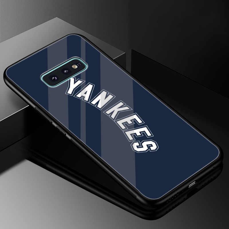 New York Yankees Стекло чехол из термопластичного полиуретана для samsung A70 A50 A40 A30 A20 A10 A60 Note 8 9 S10 S7 край S8 S9 плюс крышка корпуса
