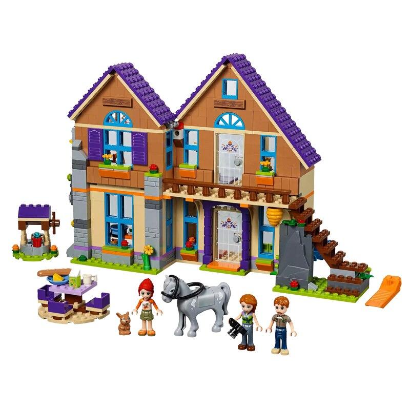 Nova menina série brinquedos educativos mia casa compatível legoingly amigos 41369 blocos de construção brinquedo para crianças presentes natal