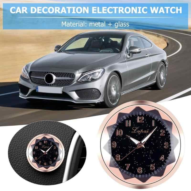 BZ847 reloj Digital de decoración para el coche, accesorio automotriz luminoso, reloj de cuarzo