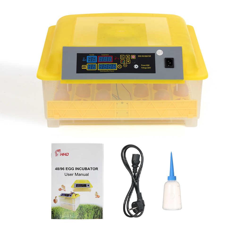 48-ไข่อัจฉริยะอัตโนมัติไข่ดิจิตอลอุณหภูมิควบคุม Hatcher สำหรับไก่เป็ดไก่ AC110-220V EGG Incubator