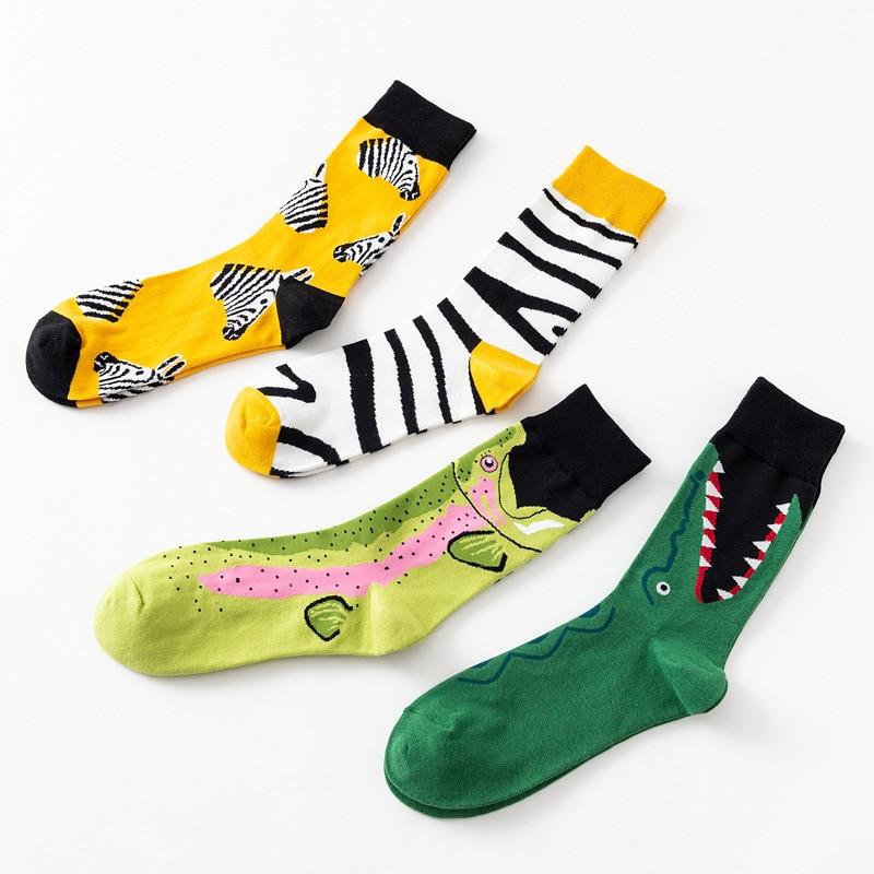 Fashion Couple Socks Novelty Crew Cute Cartoon Print Socks For Women Men C55