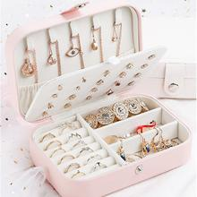 Jewelry Display Travel Portable Jewelry Box Organizer PU Leather Ornament Rings Necklace Earrings Bracelets Case Storage Casket