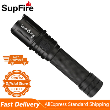 Supfire J6 Military LED Flashlight Glare Self-Defense Torch Light Adventure Camping Searchlight USB Rechargeable Portable Lamp 1