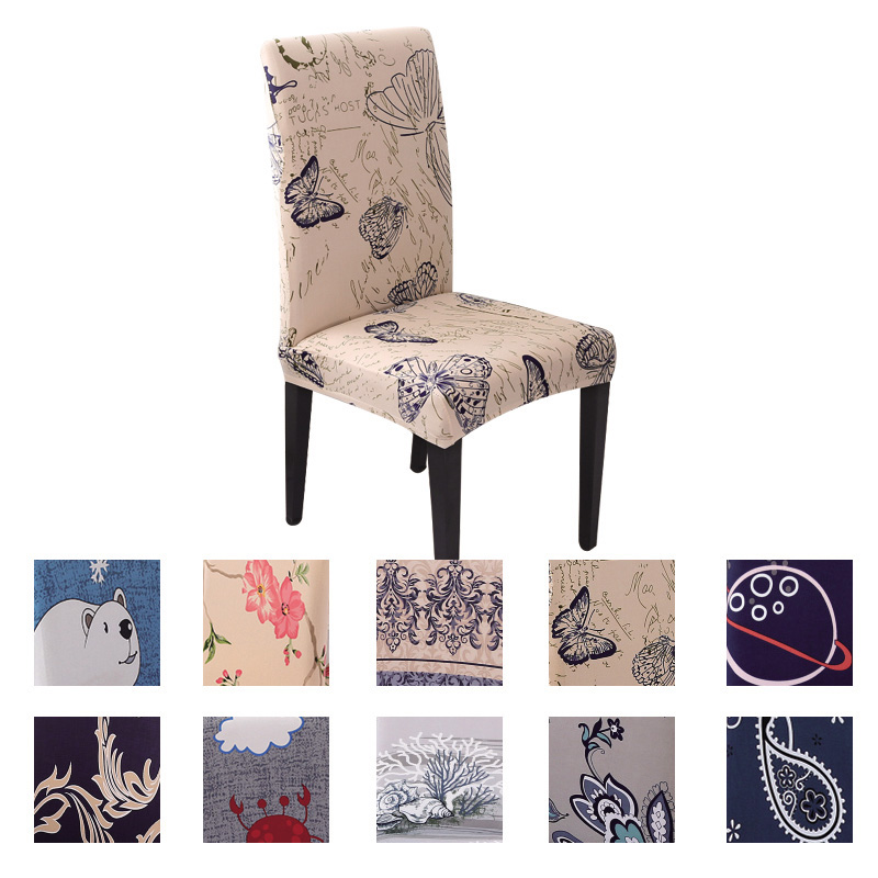 Modern Chair Cover Spandex Dining Chaircover Wedding Dining Chair Cover for Office Cover Stretch Cover for