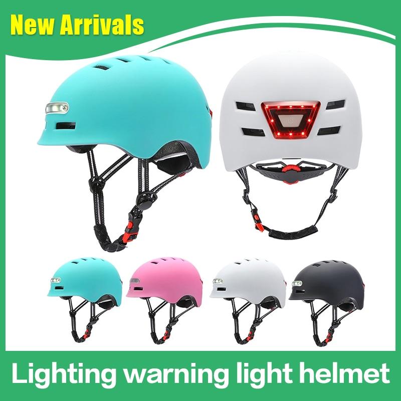 Светильник ing Предупреждение с светильник, Интегрированный шлем, велосипедный баланс, автомобильный шлем для спорта на открытом воздухе, Эл...
