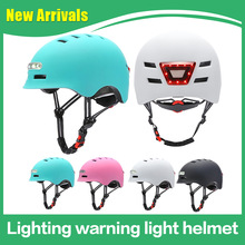 Helmet Scooter Bicycle-Balance Light Electric Integrated Sports with Outdoor Car Lighting-Warning