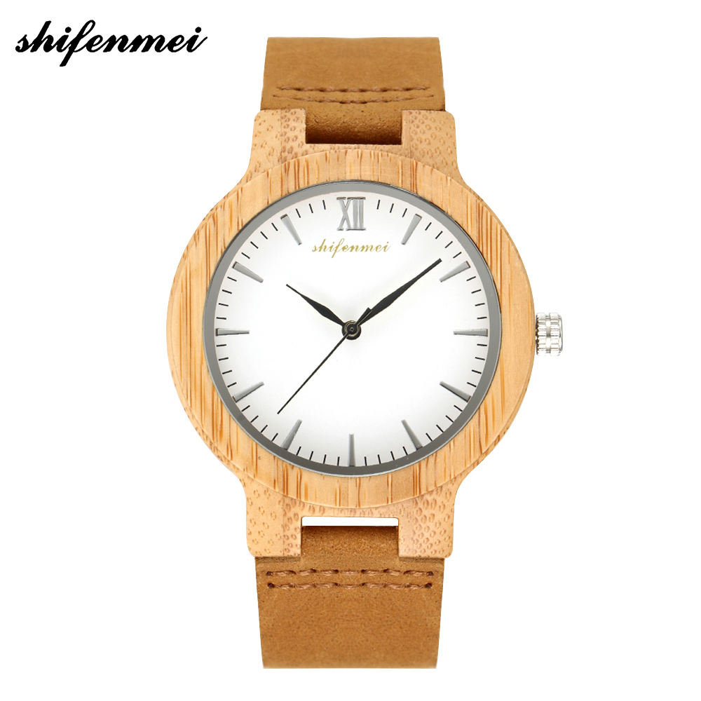 Shifenmei Women Watches 2019 Luxury Brand Quartz Watch Genuine Leather Fashion Ladies Nature Wood Creative Handmade Gifts 5512
