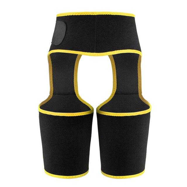 Fat Burning Yoga Trainer Butt Lift Sweat Shapewear Fitness Leg Shapers Waist Thigh Trimmer Adjustable For Women Slimming Belt 2