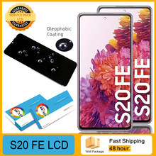 100% original display para samsung galaxy s20 fã edição g780f g781f s20 fe 5g s20 lite lcd com quadro de peças reparo da tela toque