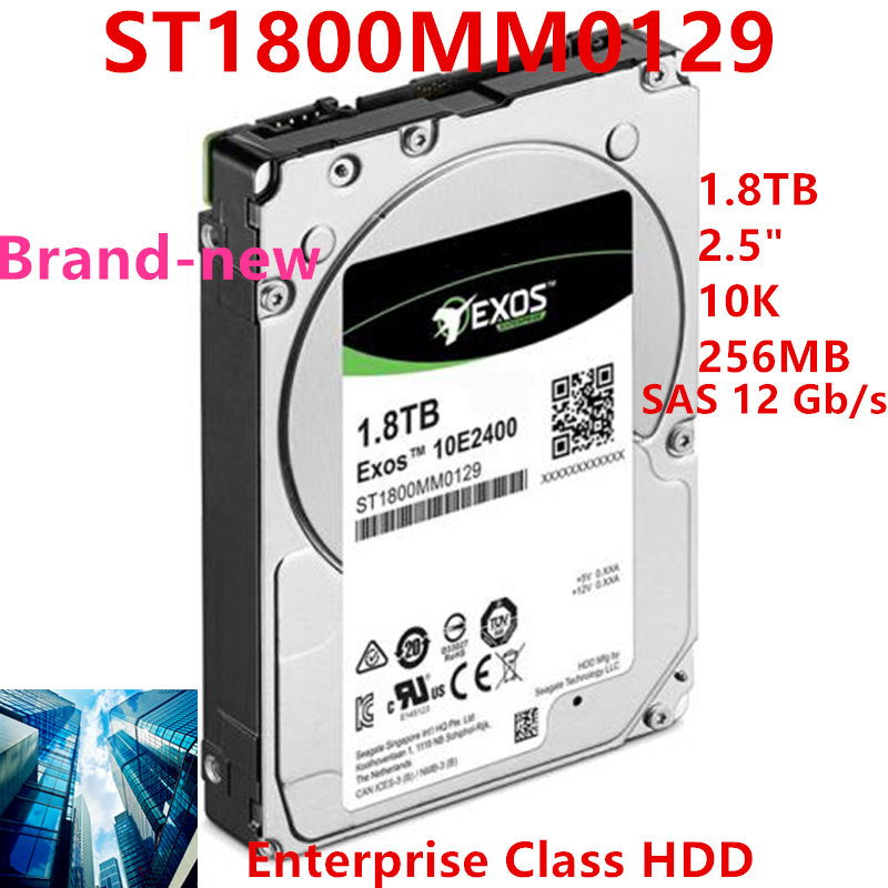 """New HDD For Seagate Brand Exos 1.8TB 2.5"""" SAS 12 Gb/s 256MB 10000RPM For Internal Hard Disk For EnterpriseHDD For ST1800MM0129 1"""