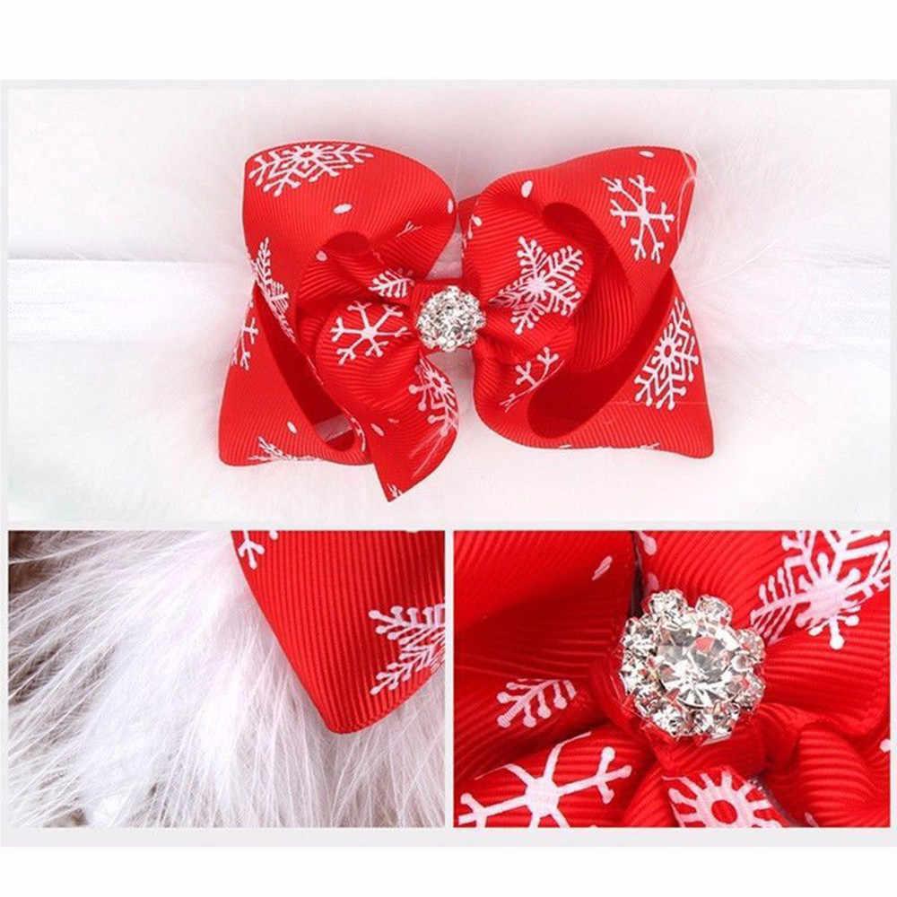 Diadema para recién nacidos, bebés, niños, diadema de Navidad, niñas, bebés, bebés, niños, diadema de plumas, flor de nieve, accesorios para el cabello