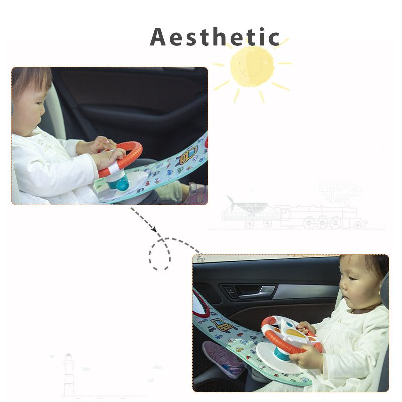 Baby Kids Eletric Simulation Steering Wheel Toy Driving Interactive Musical Educational Car Seat Back For Infant Bebe Boys Girls 4