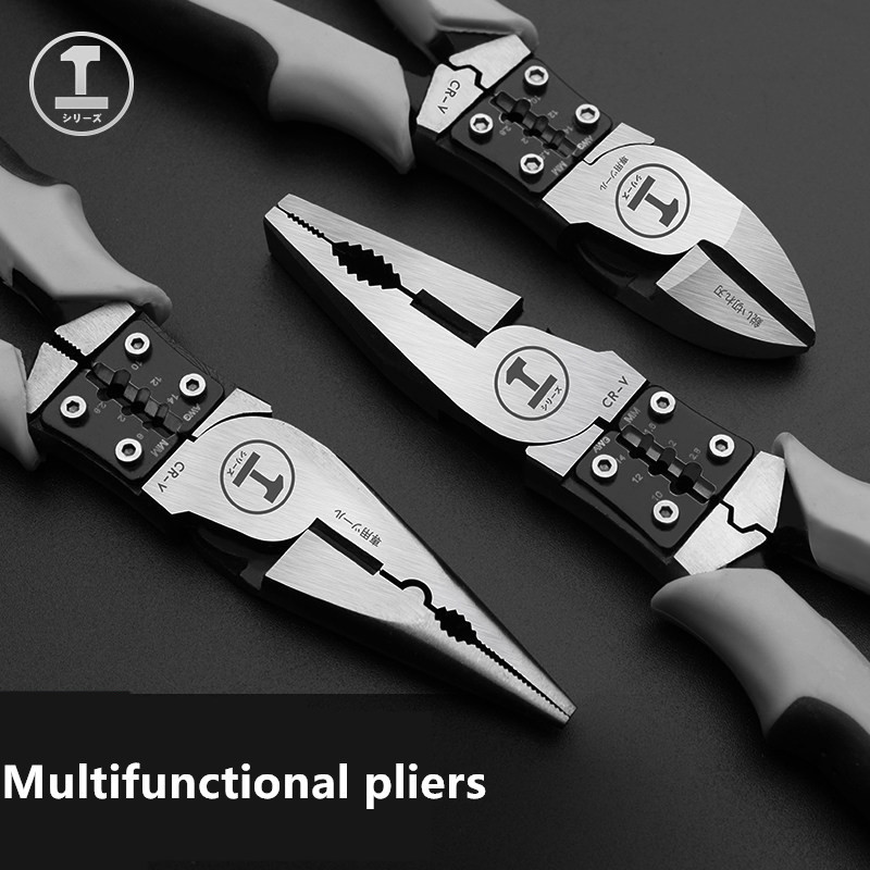 Multifunctional Wire Pliers / Labor-Saving Vise 7.5/8 Inch Industrial Grade Wire Pliers Manual Pliers Chrome Molybdenum Steel