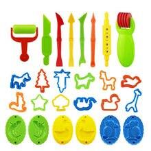 Colorido molde de plasticina crianças brinquedos conjunto massa plasticina diy ferramentas conjunto brinquedo educacional modelagem kit argila brinquedos casa