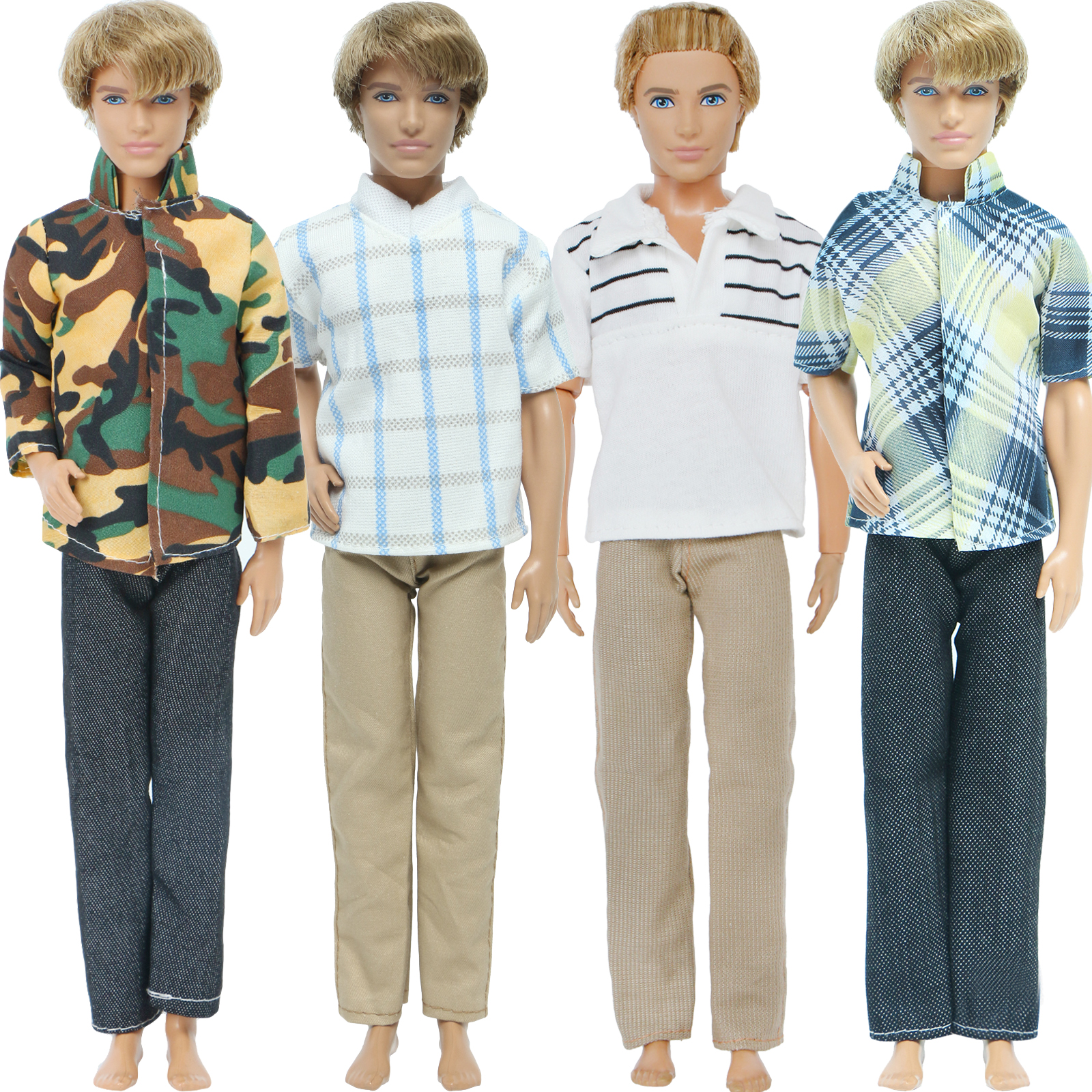 Lot 3 Sets Outfits Clothes Suits Summer Casual Wear for Boy Friend 12 inch Doll