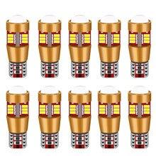 10 pçs w5w led canbus bulb194 168 luzes do carro t10 57smd wy5w 12 v 3014 luzes da lâmpada auto marcador luz de estacionamento do motor cunha