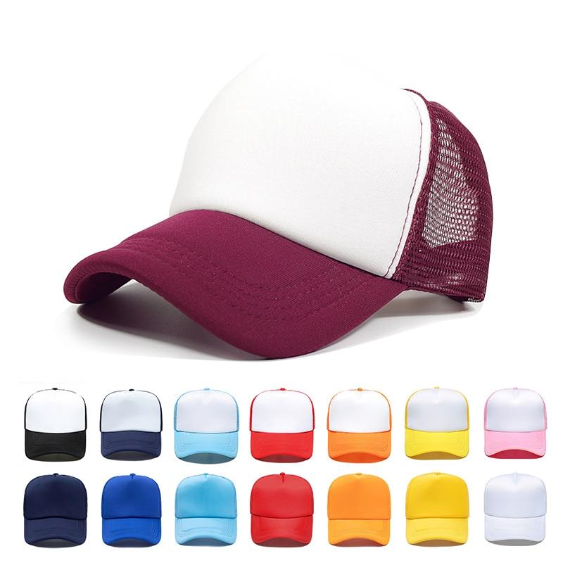 Summer high quality Snapback mesh   cap     baseball     cap   Truck driver hat dad hat factory wholesale