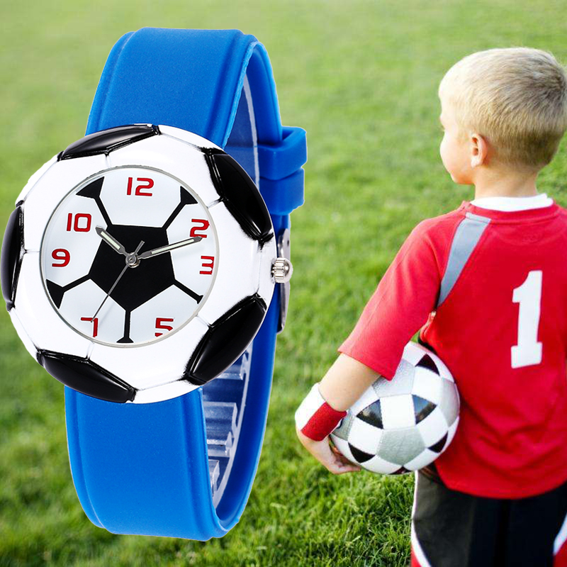 Kid Watches 3d Football Shape Dial Sport Children Boy Fashion Student Clock Teen Watches Relogio Kol Saati Relogio Infantil