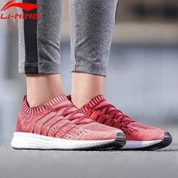 Li-Ning Women SPEED STAR Cushion Running Shoes Mono Yarn LiNing li ning Breathable Sport Shoes Light Sneakers ARHN128