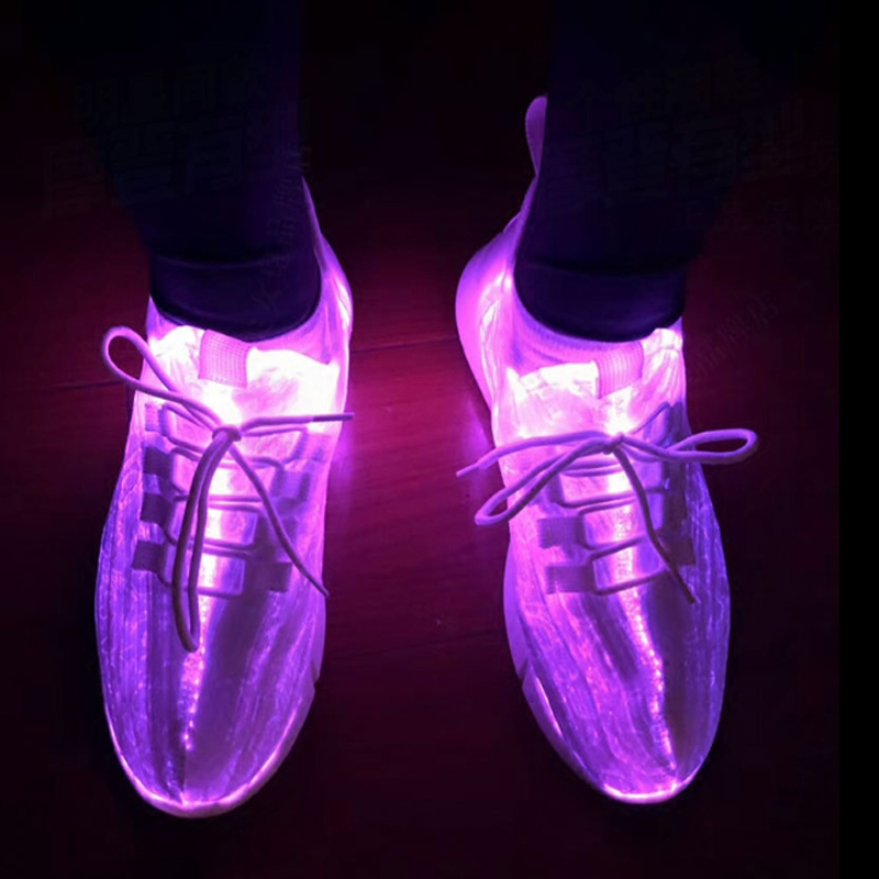 Unisex New Glowing Up Design Children Sneakers With Luminous Upper Bright LED USB Charge Boys Girl Shoes Teenager Sneaker D03203