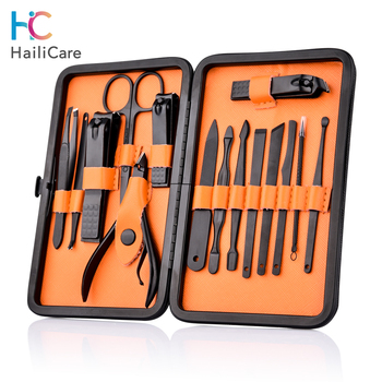 Stainless Steel Nail Clipper Kit With Case Nail Care Set Pedicure Cutters Scissor Tweezer Knife Professional Manicure Set Tools 1