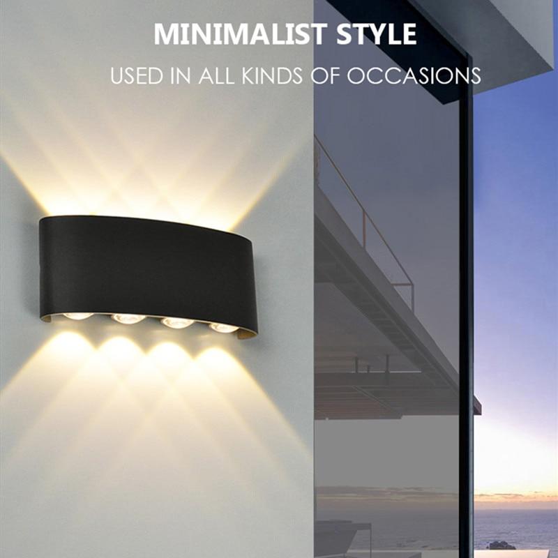 Kenlux 8W Up Down Led Wall Light Garden Energy Saving Surface Mounted Lights Modern Waterproof  Indoor Outdoor Wall Bedroom Lamp