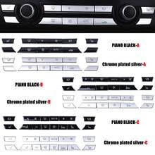 Chrome ABS klimatyzator przyciski dekoracyjna nakładka cekinowa tapicerka dla BMW F10 F11 F06 F01 E70 E71 F25 F26 X5 X6 3/5/6/7 serii