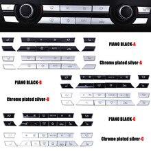 クロームabsエアコンボタンスパンコール装飾カバーbmwのF10 F11 F06 F01 E70 E71 F25 F26 X5 x6 3/5/6/7シリーズ