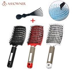 Detangle Hairbrush Women Curly Hair Brush Massage Comb Brush for Hair Hairdressing Tools Wet combing brushes
