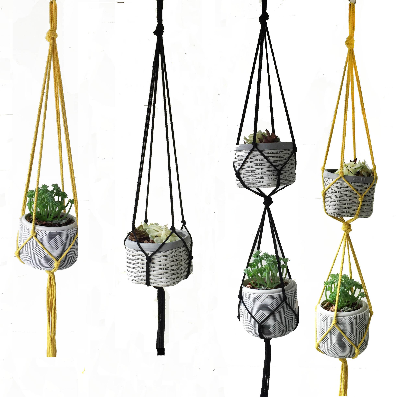 Simple Plant Hanger Simply Macrame Plant Hanger Rope Plant Hanger Flower Hanger Plant Pot Tray