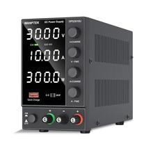 Voltage-Regulator-Switch Stabilized Bench Power-Supply Digital-Lab Wanptek 30v 10a LED