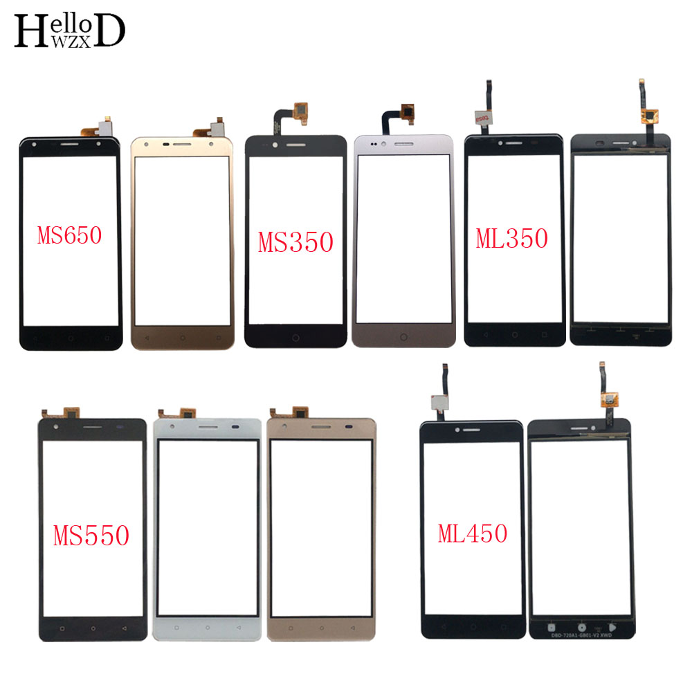 Mobile Touch Screen For DEXP Ixion ML350 ML450 MS350 MS550 MS650 Touch Screen Digitizer Panel Sensor Front Glass 3M Glue