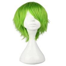 HAIRJOY Peluca de pelo sintético sin pelo KAIDOU KIO, peluca de disfraz verde claro