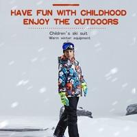 PHMAX Winter Ski Children's Jacket Waterproof Thicken Keep Warm Kids Ski Clothes Outdoor Skiing Snowboard Clothing Boys