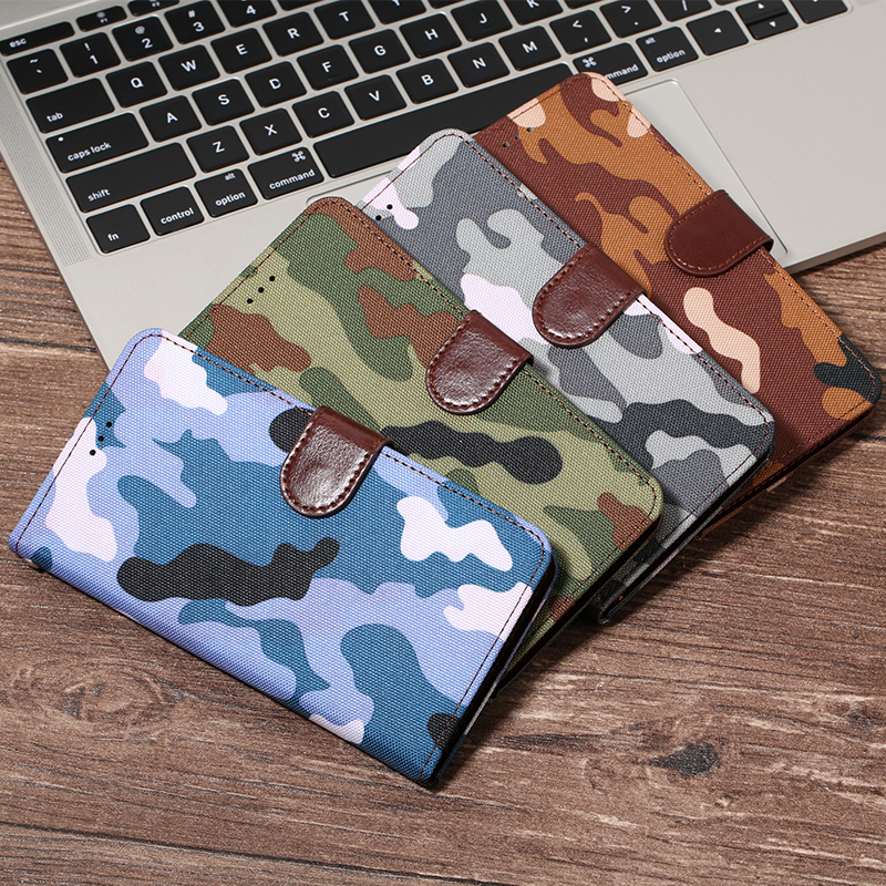 Army Camouflage Wallet Flip Case For <font><b>Nokia</b></font> 1 2 3 5 6 7 8 9 106 2018 Cover for X5 X6 X7 2.1 3.1 5.1 Plus 3310 2017 <font><b>230</b></font> 640 950 XL image