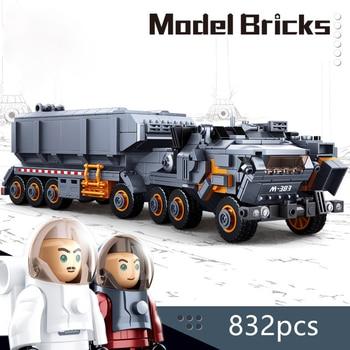 City Legolyed 0787 832pcs Model Brick Kits Heavy Transport Vehicle Engineering Truck Building Blocks Toys For Children Boys