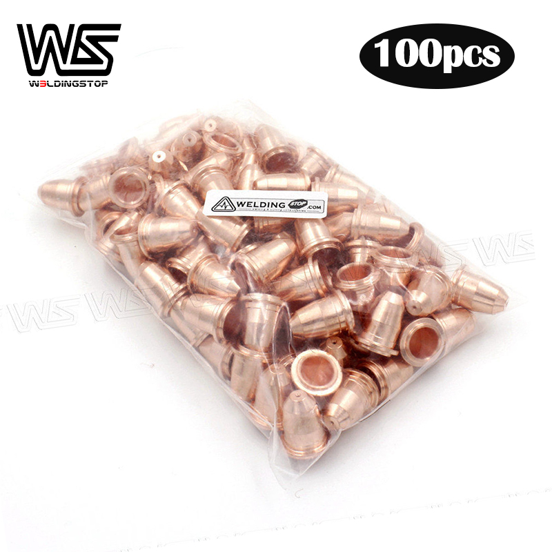 PD0116-08 PD0116-06 Nozzle Tips 0 6mm 0 8mm for Trafimet Plasma Cutter Torch S45 IPT-40 PT40 IPT-60 PT60 PKG 100