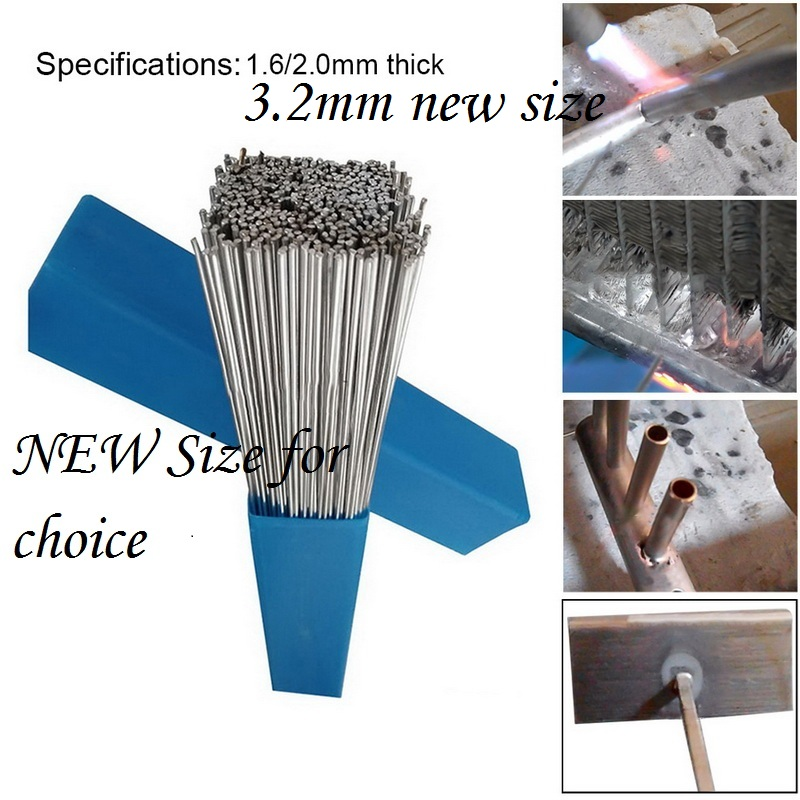 10/20/30/50PCs Need Solder Powder Aluminum Welding Brazing Rod 1.6/2/3.2mm Low Temperature Wire Flux Cored No Bundle Storage Box
