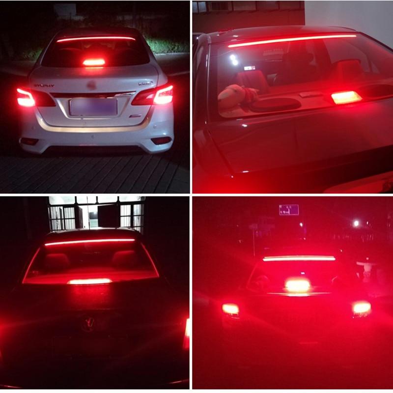 Купить 12v car led strip brake lights auto rear tail warning lighting