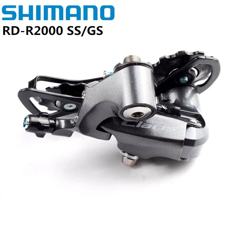 Переключатель передач Shimano Claris R2000 SS GS, 8-скоростной задний, короткий клетчатый, средний клетчатый, для дорожного велосипеда, 8s