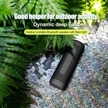 Zealot S22 Portable Bluetooth speaker wireless music speaker with FM Radio Outdoor LED Light Speaker TF card USB with Power Bank(China)