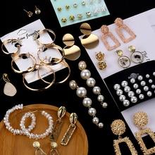 ZOVOLI Fashion Earrings Gold Drop Earrings For Women Round Shell Acrylic Geometric Earring Brincos Ethnic Vintage Jewelry