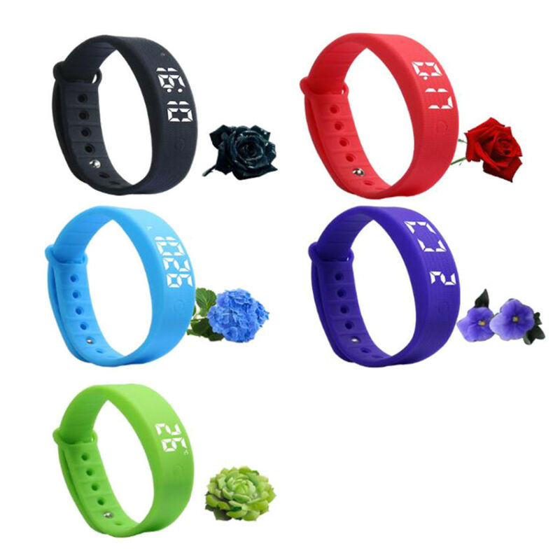 W5S Smart Bracelet LED Watch Sleeping Pedometer Vibration Sports Smart Bracelet Smart Wristband for Student Kids Gift