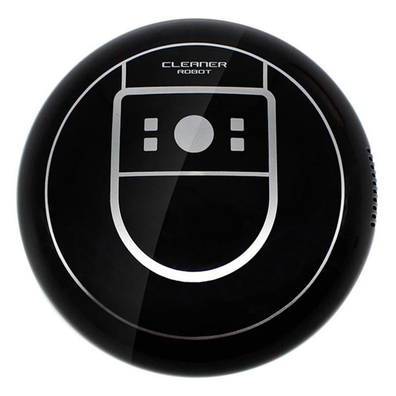 Home Auto Cleaner Robot Microfiber Smart Robotic Mop Floor Corners Dust Cleaner Sweeper Vacuum Cleaner Usb Charging BLACK