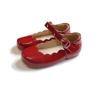 Красивая повседневная обувь для девочек; детская обувь принцессы из искусственной кожи с зеркальным покрытием; Высококачественная Брендов...