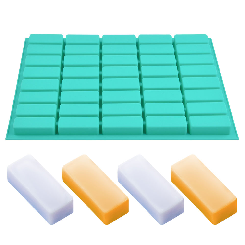 40 Cavity Rectangle Soap Bar Mold Silicone Mold For DIY Home Soap Making Small Soap Molds