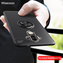 Phone Cases For Huawei Mate 9 Pro Case Cover Magnetic Ring Car Holder Silicone Original Tpu Coque Huwei